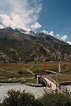 Manang Valley Nepal bridge