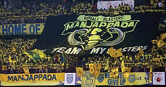 Manjappada (Yellow army) of Kerala Blasters Manjappada unfolding their tifo.jpg