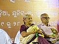 Manorama Mohapatra with Bibhuti Patnaik at Bhubaneswar Odisha 02-19 12.jpg