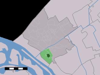 Maasdijk, Westland - Image: Map NL Westland Maasdijk