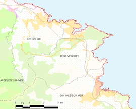Mapa obce Port-Vendres