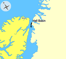 Map indicating Hall Basin, Nunavut, Canada.png