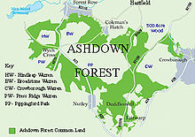 Map Of Uk Forests.Ashdown Forest Wikipedia