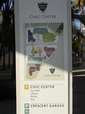 Beverly Hills Civic Center - Map of the Beverly Hills Civic Center
