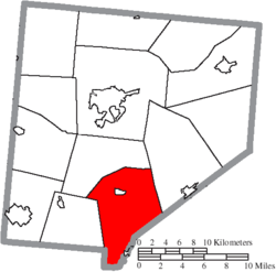 Location of Clark Township in Clinton County