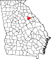 Map of Georgia highlighting Taliaferro County.svg