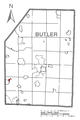 Map of Harmony, Butler County, Pennsylvania Highlighted.png