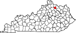 State map highlighting Robertson County