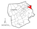 Map of Luzerne County, Pennsylvania Highlighting Pittston Township.PNG
