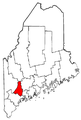Map of Maine highlighting Androscoggin County.png