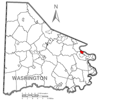 Map of New Eagle, Washington County, Pennsylvania Highlighted.png