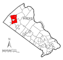 Map of Richland Township, Bucks County, Pennsylvania Highlighted.png