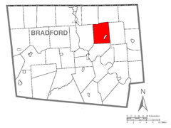 Map of Rome Township, Bradford County, Pennsylvania Highlighted.png