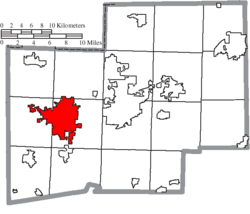 Location of Massillon in Stark County