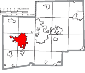 Map of Stark County Ohio Highlighting Massillon City.png