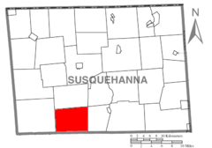 Map of Susquehanna County Pennsylvania highlighting Springville Township.PNG