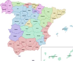 Mapa provincial d'Espanya