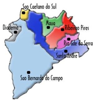 ABC Region - Image: Mapaabc