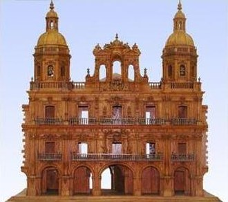 Plaza Mayor, Salamanca - Model showing the 2 towers never completed