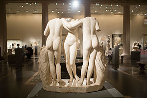 The Three Graces (sculpture) - Marble Statue of The Three Graces, Metropolitan Museum of Art NYC
