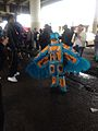 Mardi Gras Under the Claiborne Overpass 2014 Indian Blue Feathers 7.jpg