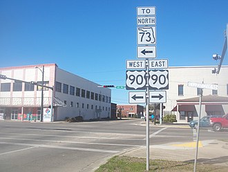 U.S. Route 90 in Florida - US 90 from the beginning of the concurrency with northbound SR 73.