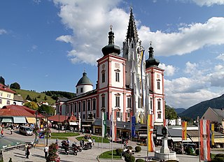 Mariazell Place in Styria, Austria