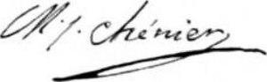 Marie-Joseph Chénier - Image: Marie Joseph Chénier Signature