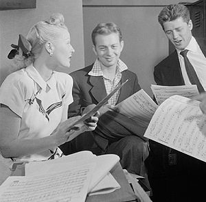 Marion Hutton - Hutton with Mel Torme and Gordon MacRae in 1947.
