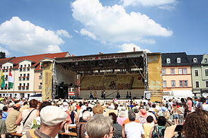 Rudolstadt-Festival - Centre of the festival: the town square (2013)