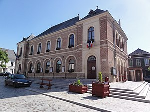 Marle, Aisne - The town hall of Marle-sur-Serre