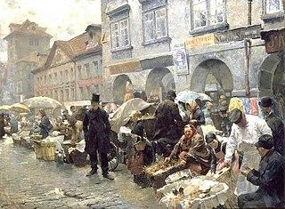Egg market in Prague