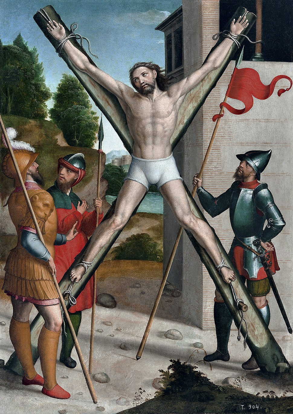 Martirio de San Andrés, por Juan Correa de Vivar