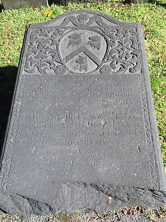 Richard Bulkeley (civil servant) - Mary (Rous) Bulkeley, d. 1775, Old Burying Ground (Halifax, Nova Scotia)