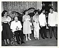 Mary Collins; Mayor John F. Collins; Kate Furedo; Sirikit Kitiyakara, Queen of Thailand; Bhumibol Adulyadej, King of Thailand; Bob Simone, City Greeter (12307190894).jpg