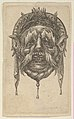 Mask with Long Eyebrows and Mustache and a Headdress with Dangling Cloth, from Divers Masques MET DP837353.jpg