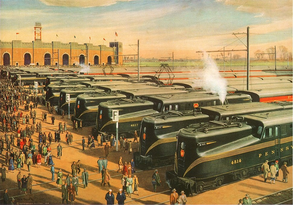 Mass Transportation (Army-Navy Game) by Grif Teller, 1955