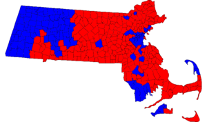 Massachusetts gubernatorial election, 2002 - Image: Massachusetts Gubernatorial Election Results by municipality, 2002