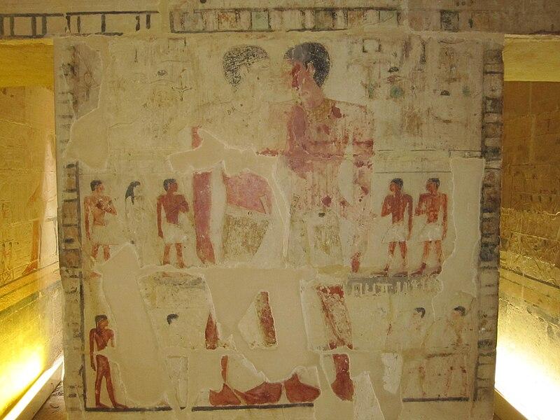 File:Mastaba of Niankhkhnum and Khnumhotep embrace 2.JPG