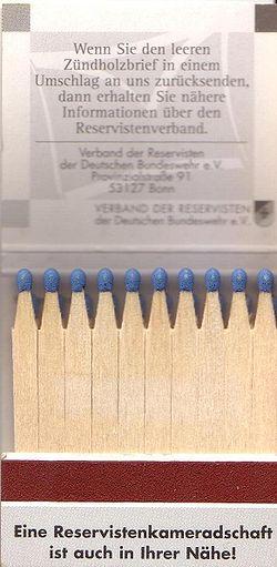 Reklamtändstickor från Tyskland. 843793a9b6e8d