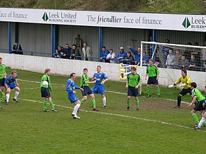 Matlock Town F.C. - Matlock (green shirts) in action against Leek Town in 2007
