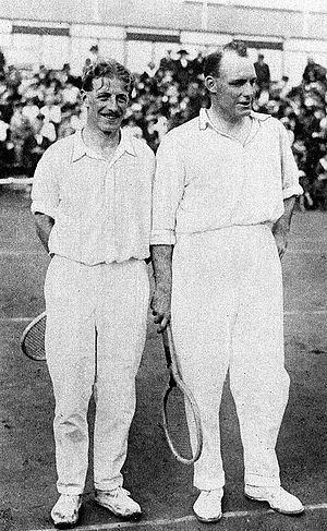 Noel Turnbull - Noel Turnbull (right) and Max Woosnam at the 1920 Olympics