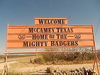 McCamey, Texas - The McCamey High School team is the Badgers.