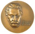 Medal. Peter Stuchka. 1965. Sculptor E. Melderis. Obverse.png