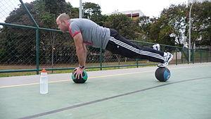 Medicine ball - Medicine Ball Plank
