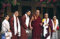 Meeting His Holiness the 14th Dalai Lama at his residence in Dharamsala, India, HH Dagchen Sakya, family members, wife, sons, 1993 Pilgrimage.jpg