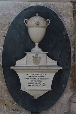 William Buller - Memorial in Exeter Cathedral