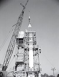 Mercury Capsule at Redstone Test Stand