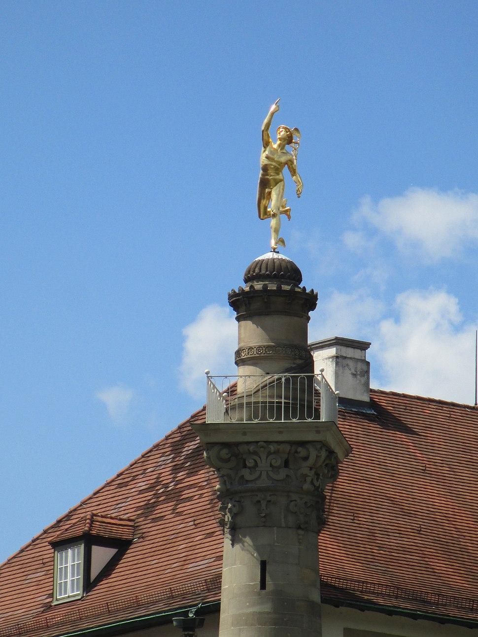 Mercury statue in Stuttgart