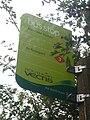 Merstone Station bus stop flag.JPG